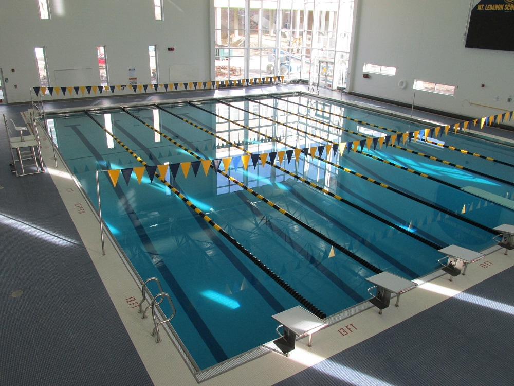 view of Mt. Lebo's new pool