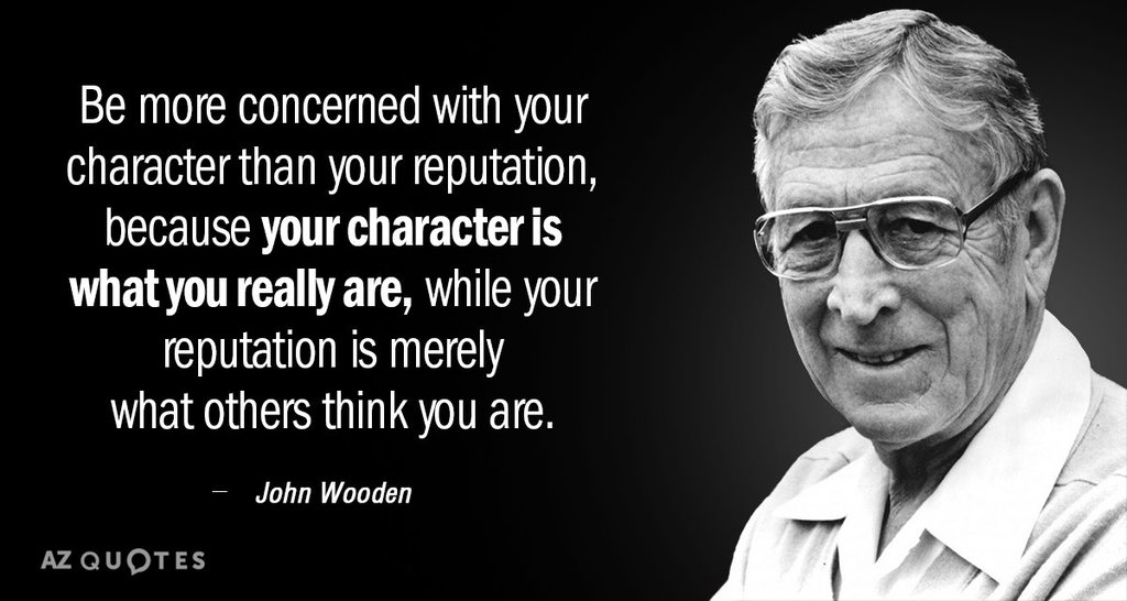 Coach Wooden on character
