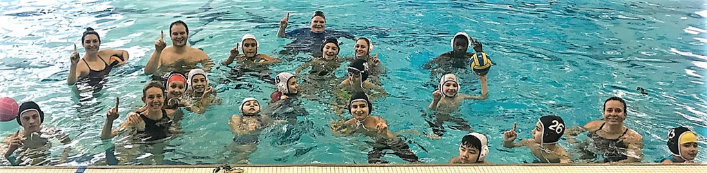 water polo clinic participants at Mt. Lebo